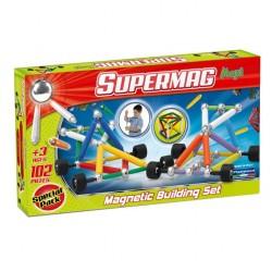 SUPERMAG Klocki magnetyczne - Maxi Wheels 102el. - 0110