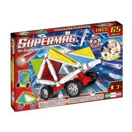SUPERMAG – Klocki magnetyczne Tags Wheels – 65 elementów – 0182