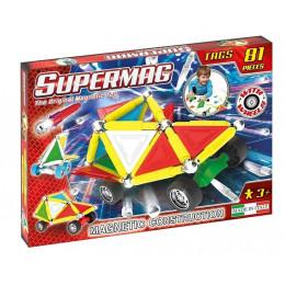 SUPERMAG – Klocki magnetyczne Tags Wheels – 81 elementów – 0183