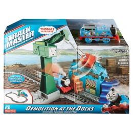 Fisher Price DVF73 Kolejka Tomek Trackmaster - Zdemolowana Przystań