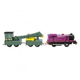 Fisher Price - Trackmaster - pociąg Ryan i dźwig Jerome DVF85