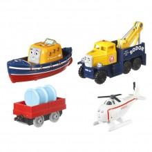 Kolejka Tomek i Przyjaciele Adventures DXT84 Czteropak pojazdów - ekipa ratunkowa