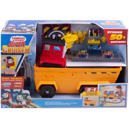Kolejka Tomek i Przyjaciele - Super transporter Stefano 2w1 - Zestaw z torami GDV38
