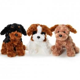 TeddyKompaniet 1687 Maskotka Teddy Dogs - Piesek Biało-brązowy