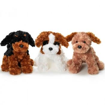TeddyKompaniet 1687 Maskotka Teddy Dogs - Piesek czarno-brązowy