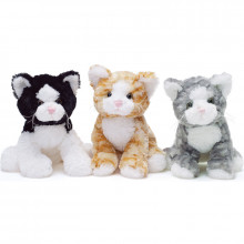 TeddyKompaniet 1778 Maskotka Teddy Cats -Kotek biało-czarny