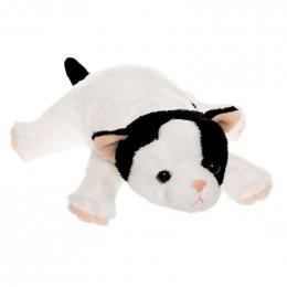 TeddyKompaniet 2537 Maskotka Katanguar - Kot biały z czarnymi łatami