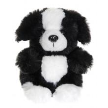 TeddyKompaniet - Maskotka Teddy Dogs - Piesek czarno-biały 12 cm - 2914