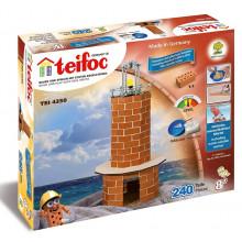 Teifoc 4350 Budowle z Cegiełek - Latarnia morska z oświetleniem