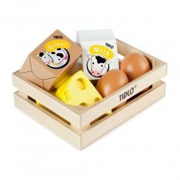 Tidlo - Drewniane jedzenie w skrzynce - Nabiał T0103
