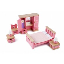 Tidlo - Drewniane mebelki dla lalek - Sypialnia T0221