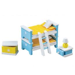 Tidlo - Drewniane mebelki dla lalek - Sypialnia dziecięca T0223