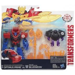 TRANSFORMERS B4714 Decepticon Hunter Optimus Prime vs. Mini-Con Decepticon Bludgeon