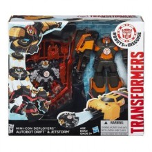 Hasbro TRANSFORMERS ROBOTS in DISGUISE B1976 Autobot Drift & Jetstorm