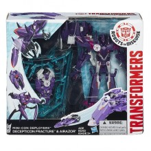 Hasbro TRANSFORMERS ROBOTS in DISGUISE B1977 Decepticon Fracture & Airazor