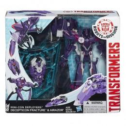 Hasbro TRANSFORMERS ROBOTS in DISGUISE B1977 Decepticon Fracture & Airazor