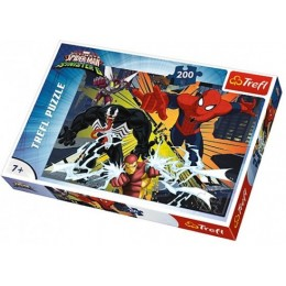 Trefl - Puzzle Spiderman Wielkie Starcie 200 el. - 13205