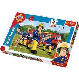 Trefl - Puzzle Maxi Strażak Sam - Ugasić pożar 24 el. - 14245