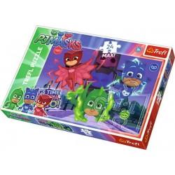Trefl - Puzzle Maxi Pidżamersi - Ukryci bohaterowie 24 el. - 14262