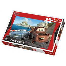 Trefl - Puzzle Auta Cars - Złomek i Finn 160 el. - 15196