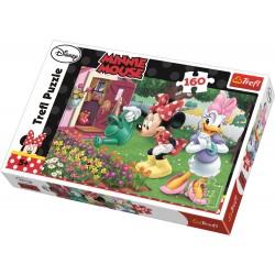 Trefl - Puzzle Myszka Minnie - Podlewanie kwiatków 160 el. - 15328