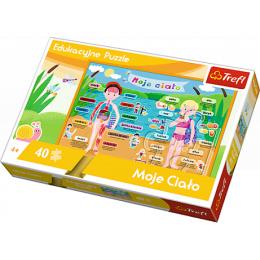 Trefl - Puzzle edukacyjne Moje ciało 40 el. - 15508