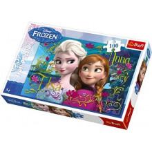 Trefl - Puzzle Kraina Lodu - Anna i Elsa 100 el. - 16255