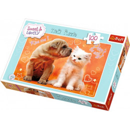 Trefl - Puzzle Sweet & Lovely - Całusy 100 el. - 16264