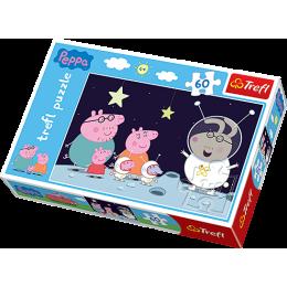 Trefl - Puzzle Świnka Peppa - Podróż na Księżyc 60 el. - 17262