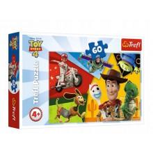 Trefl – Puzzle 60 elementów – Toy Story 4 stworzeni do zabawy – 17325