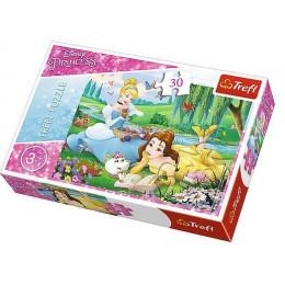 Trefl - Puzzle Disney Princess - Bella i Kopciuszek 30 el. - 18223