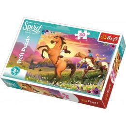 Trefl - Puzzle 30el. - Spirit Riding Free - Duch Wolności - 18250