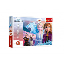 Trefl - Puzzle 30 el. - Kraina Lodu Frozen 2 - Odwaga sióstr - 18253