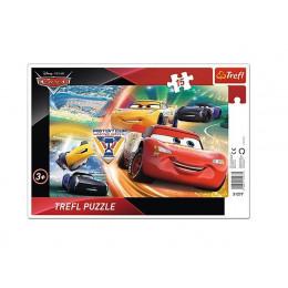 Trefl - Puzzle z ramką Cars Auta - Walka o zwycięstwo 15 el. - 31277