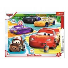 Trefl – Puzzle ramkowe 25 elementów – Auta Cars – Zgrana ekipa – 31346