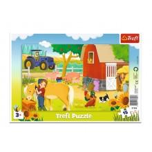 Trefl – Puzzle ramkowe 15 el.  – Gospodarstwo na farmie – 31356