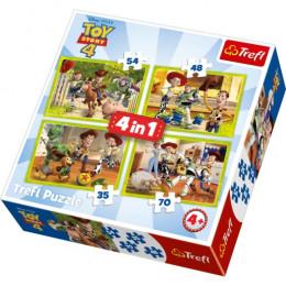 Trefl - Puzzle 4w1 - Toy Story 4 - 34312