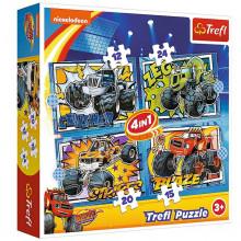 Trefl – Puzzle Blaze i przyjaciele – 4w1 – 34349