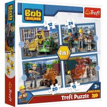 Trefl – Puzzle pracowity dzień – Bob Budowniczy – 4w1 – 34350
