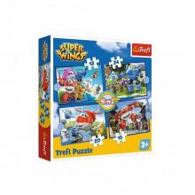 Trefl – Puzzle odlotowa paczka – Super Wings – 4w1 – 34351