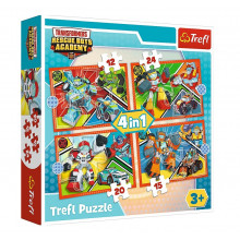 Trefl – Puzzle Transformers Rescue Bots Academy – 4w1 – 34352