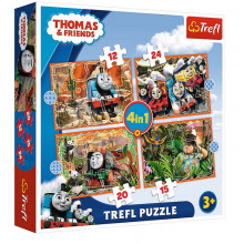 Trefl – Puzzle Tomek i Przyjaciele podróże po świecie – 4w1 – 34354