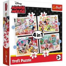 Trefl – Puzzle Disney Minnie z przyjaciółmi – 4w1 – 34355