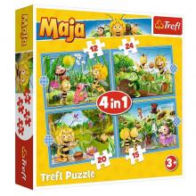 Trefl – Puzzle przygody pszczółki Mai – 4w1 – 34356