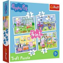 Trefl – Puzzle 4w1 – Świnka Peppa – 34359