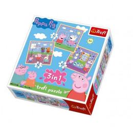 Trefl - Puzzle 3w1 Świnka Peppa - 34813