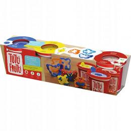 Trefl Tutti Frutti - Pachnąca ciastolina - Trzy zapachy z foremkami - 3 tubki 384g 60735