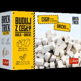 Trefl - Brick Trick - Buduj z cegły - Zestaw 70 białych cegiełek 61152
