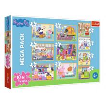 Trefl – Puzzle Świnka Peppa z przyjaciółmi – 10w1 – 90358