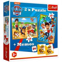 Trefl – Puzzle Psi Patrol 2w1 + memos – 90790